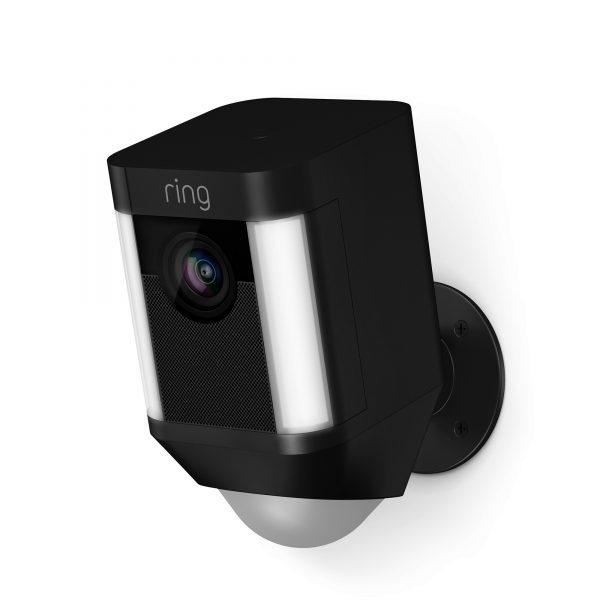 ring beveiligings camera zwart