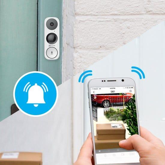 EZVIZ, slimme deurbellen, deurbel met camera, wifi deurbel