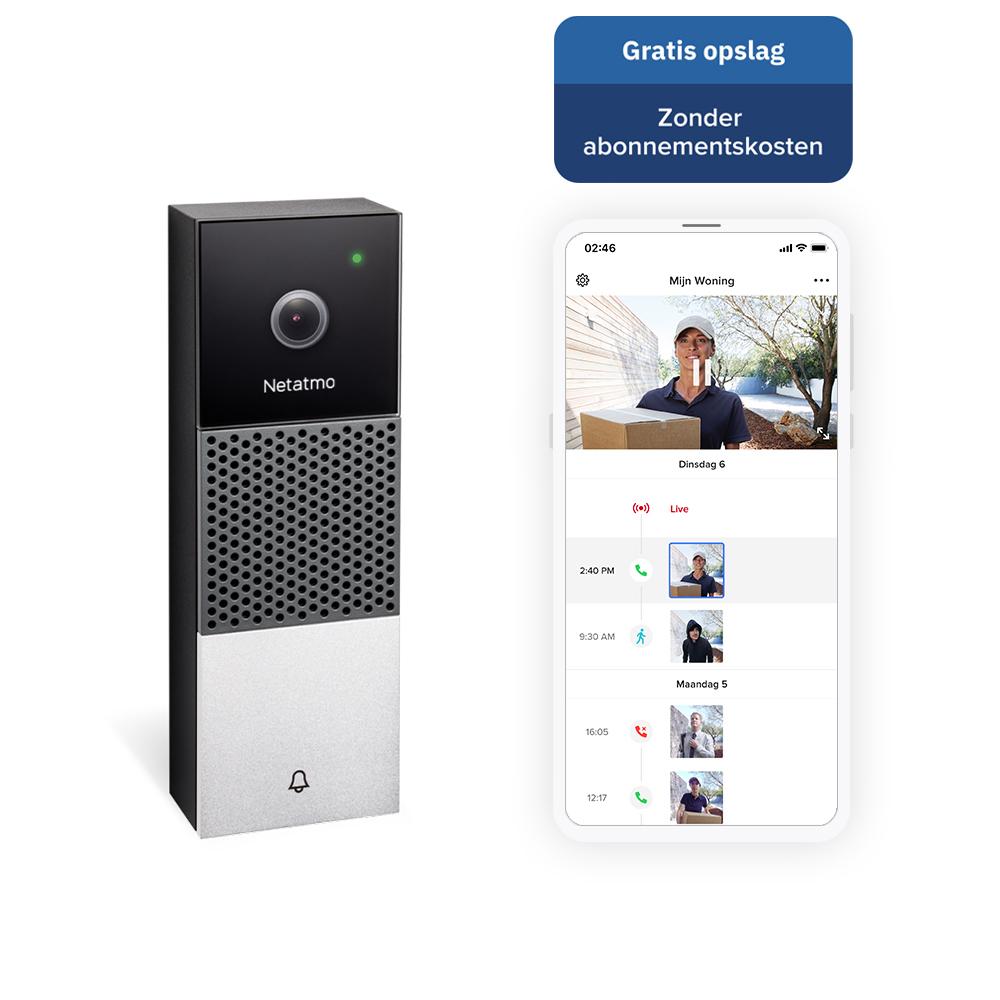 Netatmo slimme deurbel, wifi deurbel, deurbel met camera, homekit